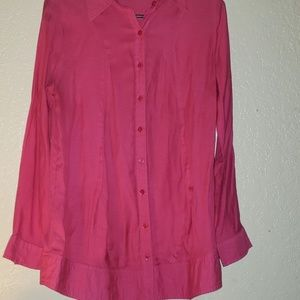 Hot Pink Long Sleeve Blouse (M)